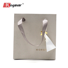 High Quality Art Design Gold Foil Logo Stamped Custom Paper Bag