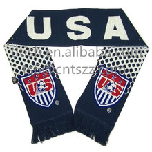 best-selling popular USA football scarf team knitting pattern