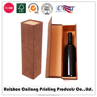 Customized logo/design high quality recycled High end 100% quality wine glass bottle box craft paper cardboard packaging box