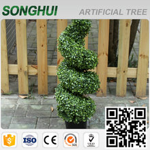 good quality customized artificial boxwood topiary spiral tree