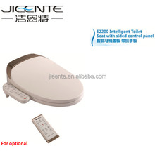 Intelligent toilet bidet seat with slow closing