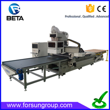 Faster delivery!! Automatic loading and unloading nesting cnc router nesting machinery for cabinet door making