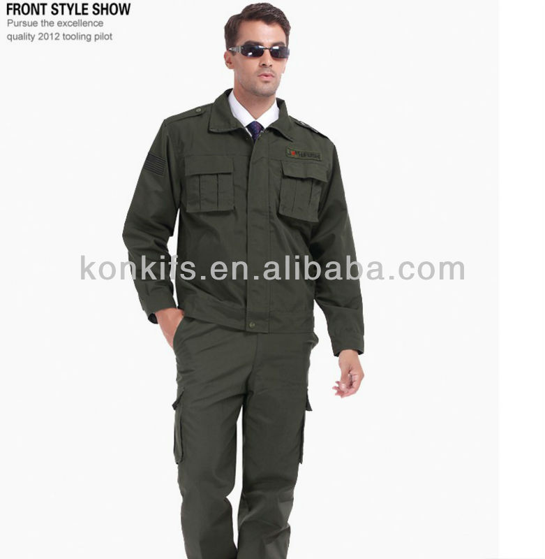 custom made fashion high quality twill cotton coverall for man