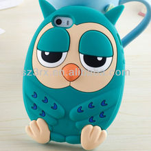 Hot sale fashion cover animal shaped silicone cell-phone case