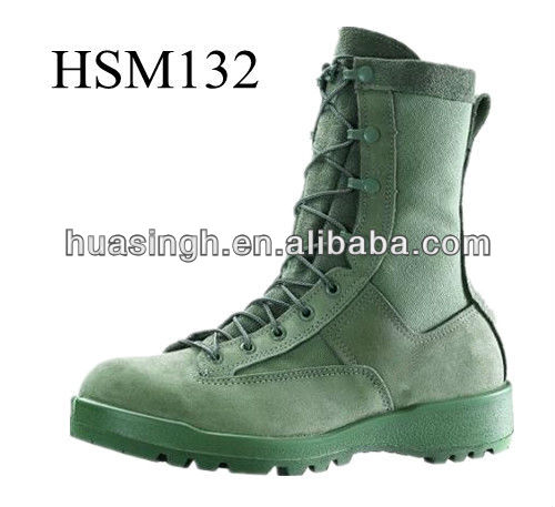 Belleville brand name ACU approved military pilot boots with olive green color
