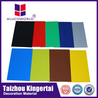 Alucoworld plastic film aluminum panels systems external wall/exterior cladding aluminium composite panel(acp)