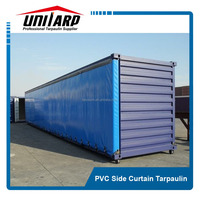 pvc side open container cover, truck/trailer cover fabric