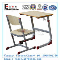 Seat Single Desk with Chair for Middle School For Wooden Classroom Furniture