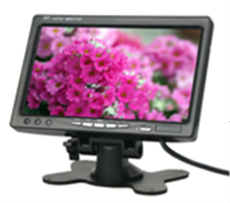 "7"" TFT-LCD Car Rearview Quad Split Monitor,Remote Control,2 CH Video Inputs"