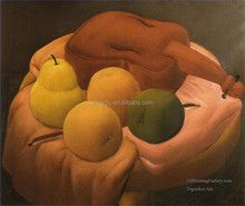 fat fruit Fernando Botero painting 100% handmade 57671