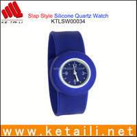 Custom Design Liquid Cartoon Feature Style Silicone Rubber Slap Watch Supplier