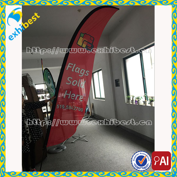 china import outdoor durable flying feather flag