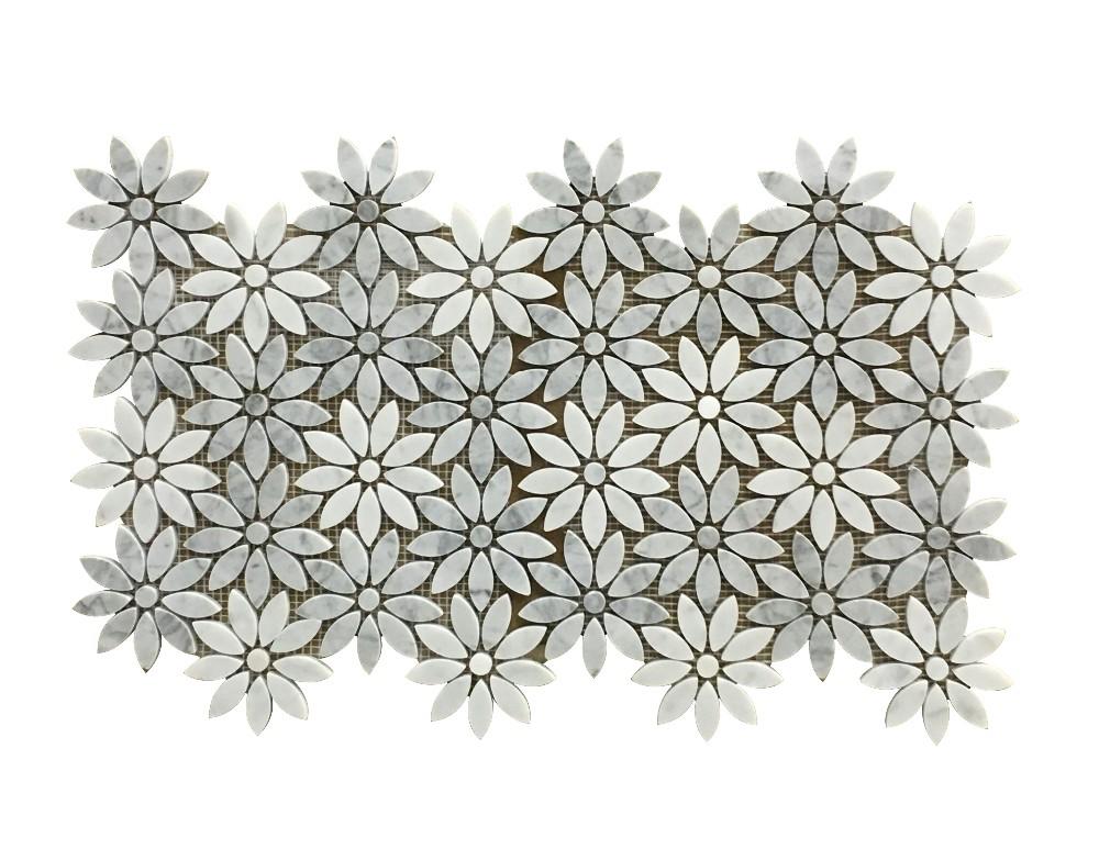 카라라 흰색 조각 대리석 타일, 화이트 대리석 바닥 타일-타일 ...