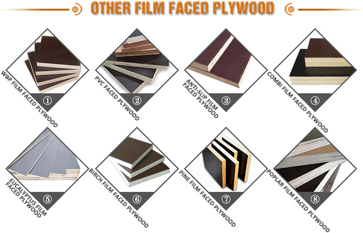 Cheap price phenolic wbp glue faced plywood