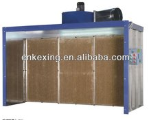 open face dry paint spray booth with ce