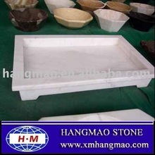 Bathroom white marble Shower Trays