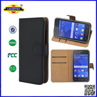 Luxury PU Leather Wallet Case for Samsung for Galaxy Ace 4 ,for Galaxy Ace 4 Flip Pouch Cover Laudtec