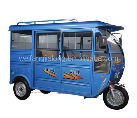 3-4 Persons Capacity electric tuk tuk with cover roof