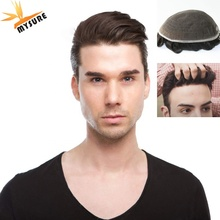 Swiss Lace Men Toupee men hair Replacement System Human Hair invisible hairline Toupee For Men