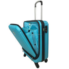 High Quality Business Pure PC Suitcase with Front Easy Open Access Laptop Pocket Luggage 20'' Inch Size