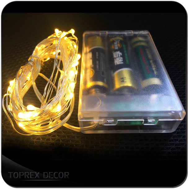 1x 3M 30 LEDs Ultra Thin Battery Operated Mini LED Copper Wire String Fairy Lights