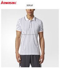 Market popular cheap quick dry short sleeve stripe Polo polyester tennis jersey