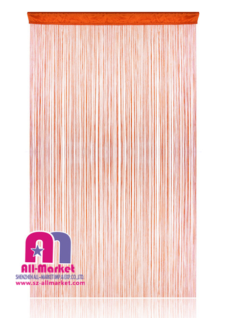 Hanging Fringe String Curtains With Cloth Top Red AM174