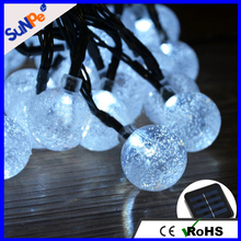 Outdoor diwali Merry christmas string light LED solar hanging decorative balls lights for wedding or festival