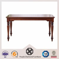 Antique Walnut Solid Wood Dining Room Table 6 Person for Sale