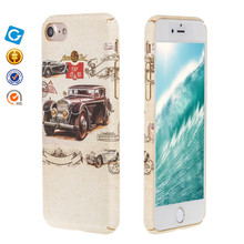 3D colorful water transfer printing sublimation mobile phone case for iphone 7 plus pc tpu hybrid case