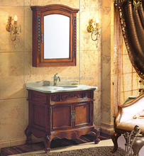 classic European style vanity combo Antique bathroom cabinet