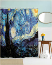 Cute design polyester batnhroom anime shower curtain