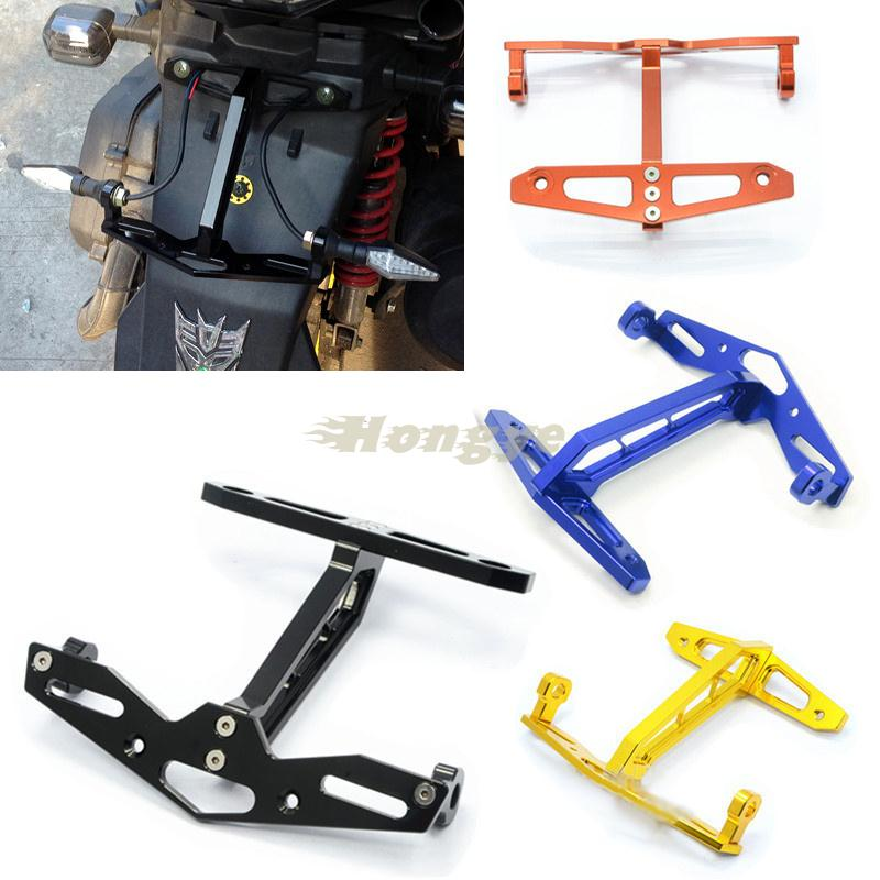 Buy New CNC Universal Motorcycle License Number Plate Holder Mount ...