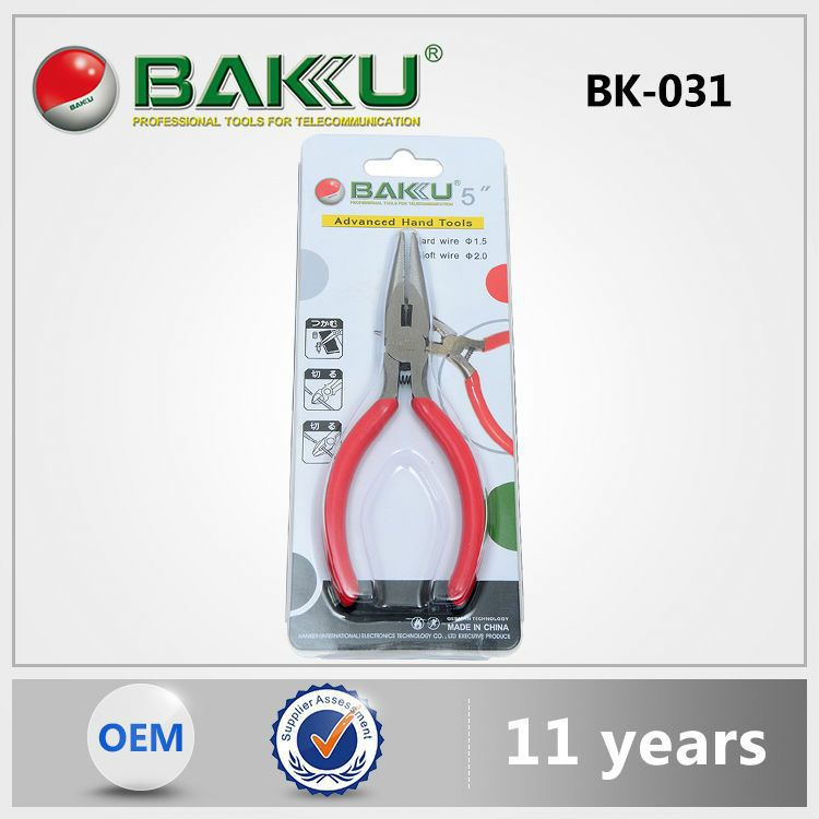 Baku Newest Hot Selling High Quality Cheap Price New Design Long Nose Split Ring Fishing Pliers