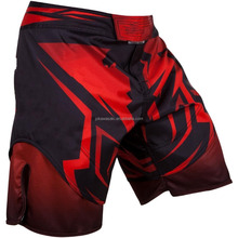 Servizio DELL'OEM sublimata qualità Tailandese uomini usura arti marziali mma cage fighting trunks shorts grappling crossfit kick boxing shorts