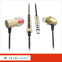 Professional Earphone/Headphone Manufacturer Supply tpe Cable Metal Cool Earphone