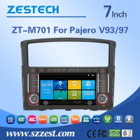 NEW car pioneer car dvd player accessories for mitsubishi pajero accessories car dvd gps navigation with AUX bluetooth