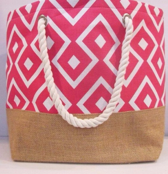 New fashion cotton convas tote bag with rope handle