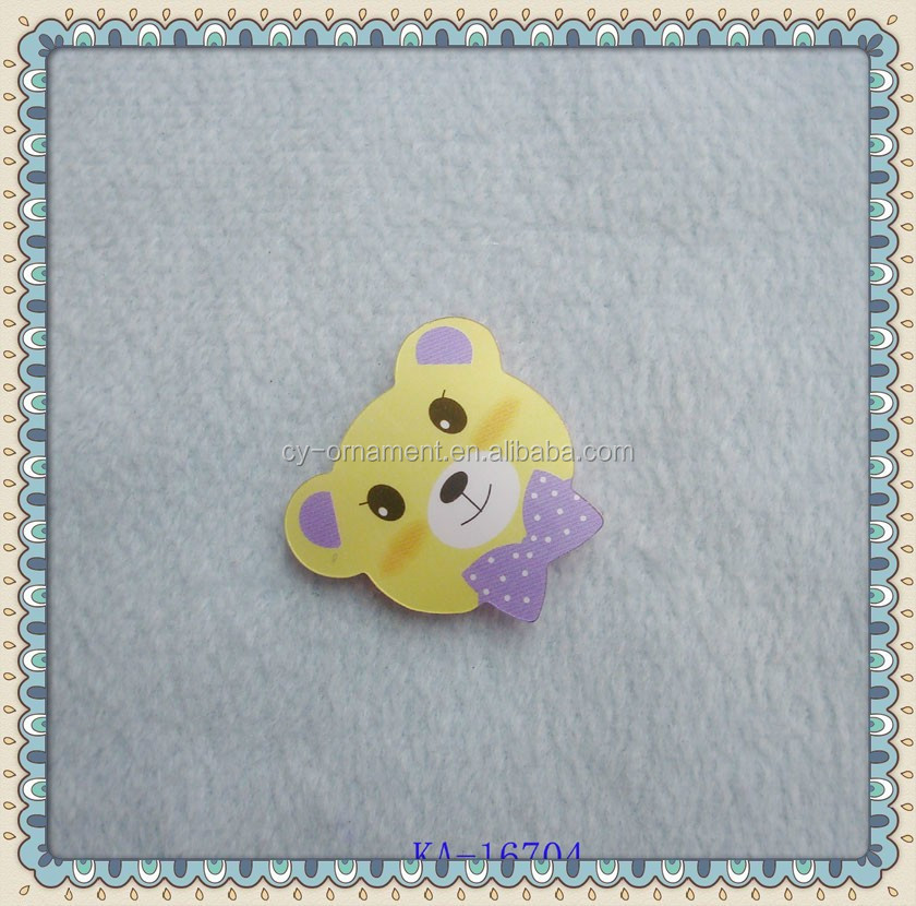 high quality kids hair accessories cute bear acrylic hair clips