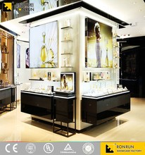 RCF1239 Modern showcase cosmetic counter top displays ,design cosmetics shop,cosmetic kiosk mall