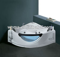 WOMA Q319 acrylic cheap bathtub with jacuzzi function