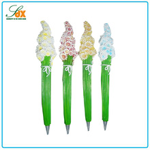 Popular professional custom wedding favors resin flower ballpoint pens