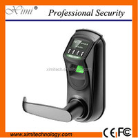 Double bolt fingerprint door lock with record 500 user capacity fingerprint access control with USB communication