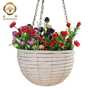 KINGWILLOW,2018 flower pots with plastic liners for garden to sale