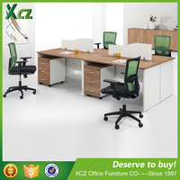 Standard sizes 2.8M four people staff working desk of workstation furniture