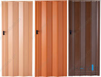 Egypt pvc Plastic folding sliding doors in dubai indoor 12mm