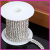 wholesale rhinestone cup chain pearl fancy rhinestone cup chain double rows