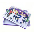 Cartoon design rectangular cosmetic tin boxes