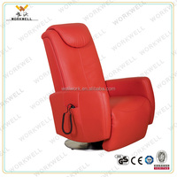 WorkWell hot sale red durable recliner sofa with single set Kw-Fu43