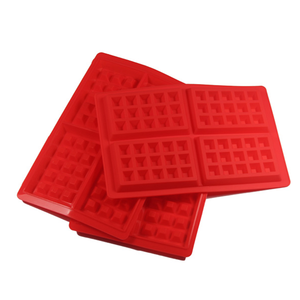 Heat-resistant Muffin Tray Cake Silicone Waffle Mold for Baking
